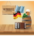 Oktoberfest celebration of Germany design vector image