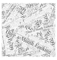 Once a Month Cooking Word Cloud Concept