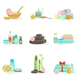 Oriental Skincare Spa Center Beauty Products And vector image