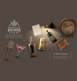 realistic pub elements collection vector image vector image