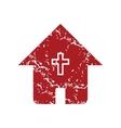 Red grunge church logo vector image