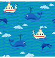 Seamless baby pattern Sailor vector image