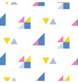 seamless geometric pattern with bright triangles vector image