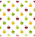 seamless pattern with colorful apples with vector image vector image