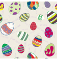 Seamless texture of decorative eggs vector image