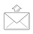 send message line icon vector image