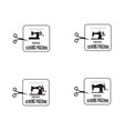 set collection vintage sewing machine logo vector image vector image