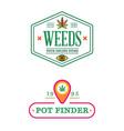 set dispensary medical cannabis marijuana sign vector image