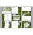 Set of 9 templates for presentation slides Blue vector image vector image