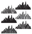 Set of cities silhouette vector | Price: 1 Credit (USD $1)