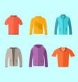 set of fashion collection clothing wardrobe vector image