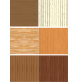 set of wooden texture vector image vector image