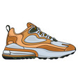 simple brown sports shoes vector image vector image
