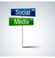 Social media direction road sign vector | Price: 1 Credit (USD $1)