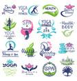 spa logo beauty spa-center logotype vector image vector image
