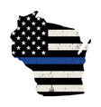 State wisconsin police support flag