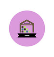 stylish icon in color circle building barn vector image vector image