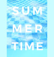 summer time poster design blue water pool vector image