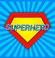 superhero comic bright template vector image