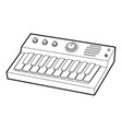 synthesizer icon outline style vector image vector image
