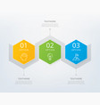 timeline infographic design element vector image vector image