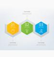 timeline infographic design element vector image vector image