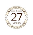 twenty seven years anniversary celebration logo vector image vector image