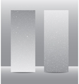 Vertical Grey Rectangle Banners Snow Winter vector image vector image