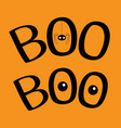 word boo text with hanging spider insect vector image vector image