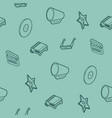 cinema outline isometric pattern vector image