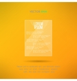 Glassy shiny bright frame on yellow background vector image