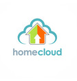 home cloud arrow logo vector image