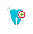 medical tooth logo dental logotype idea vector image