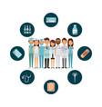 medicine professional people vector image