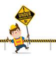 under construction mascot vector image