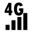 4g network filled icon on white background flat vector image vector image