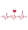 a pulse line cardiogram vector image vector image