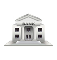 Bank building isolated on white vector image vector image