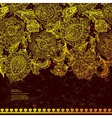 beautiful indian floral paisley ornament print vector image vector image