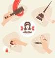 beauty shop icons vector image vector image