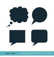 blank speech bubble set icon logo template design vector image vector image