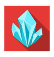 blue natural mineral icon in flat style isolated vector image vector image