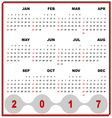 Business frame template of 2017 calendar vector image vector image