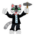 cartoon animal racoon in fashionable suit with vector image vector image