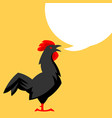 chicken emblem stylized of black vector image vector image
