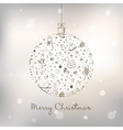 christmas ball vector image vector image