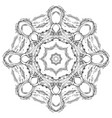 circular delicate mandala with doodle pattern vector image vector image