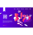 concept landing page with isometric woman fashion vector image vector image