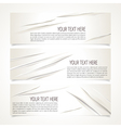cut banner vector image vector image