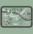 cute road play mat in scandinavian style vector image vector image